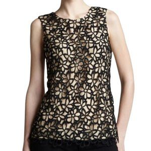 Lela Rose For Nordstrom Target Guipure Lace Top XS